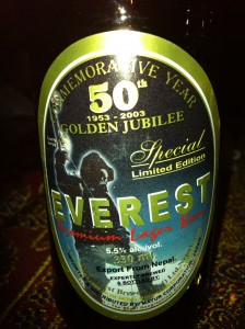 Everest Beer from Nepal