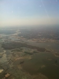Bengal Delta, near the Dhaka, from the Plane, 9th Nov. 2011